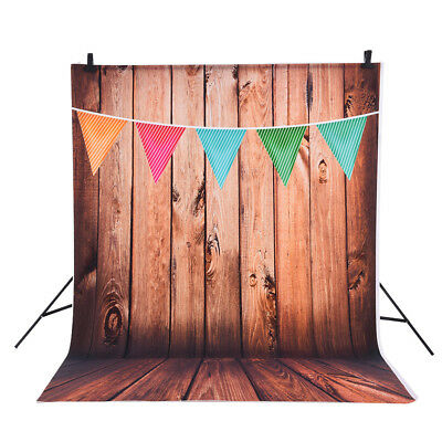 Andoer 1.5*2m Photography Studio Backdrop Wooden Wall Colorful Flag Pattern A5P4