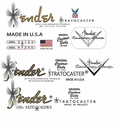 Three Assorted Headstock Decals