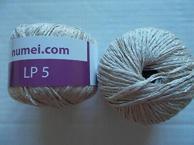 SUMMER COTTON BLEND ribbon yarn, grey/black, lot of 2 (137