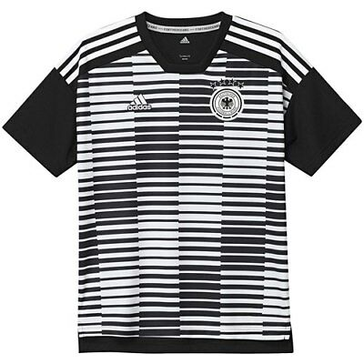 5489f0505395f adidas Germany National Team Youth White Black Pre-Match Training Jersey