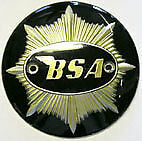 "BSA Gold Star Fuel Tank Badges - Black/Gold - 4"" Round - 1949-58 (pair)"