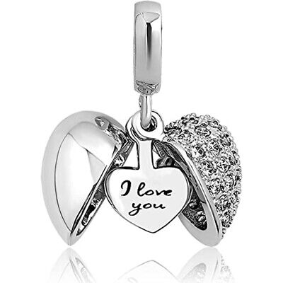 Pandora Bracelet Charms I Love You Women Best Gift Valentine's Day Mothers Day ❤
