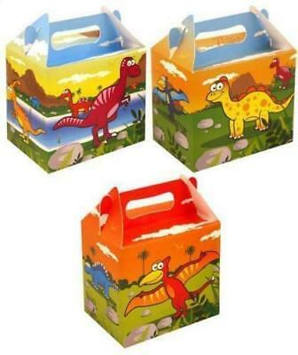 New 12 Childrens Card Party / Lunch Boxes Birthday 3 Cartoon Dinosaur