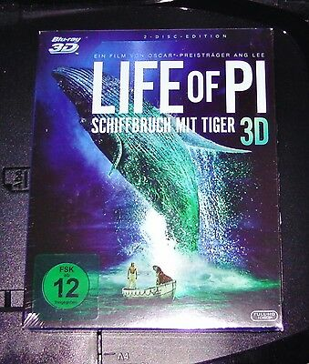 Life of Pi Shipwreck with Tiger 3D Blu-Ray 3D + 2D Version New Original Package