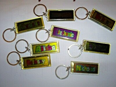 Personalised Flashing Solar Powered Keyring Names  K Bambina: accessori Z From History & Heraldry