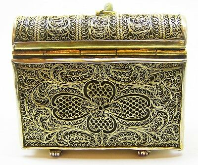 Rare 16th - 17th century AD Renaissance Filigree Silver Girdle Prayer Book Case