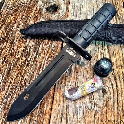 Tactical Bayonet Hunting Survival Knife w/Sheath Bowie Survival Kit Camping new