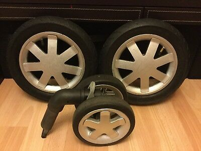 Quinny Buzz Full Set Of Silver  Wheels, Two Rear, One Front,   (ref 3)