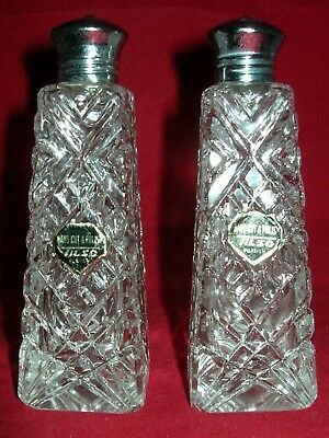 Vintage Glass Cruet Salt Pepper Shakers With Screw Tops Retro Tearoom FREEPOST