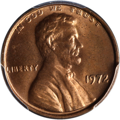 1972-P Lincoln Cent Doubled Die Obverse PCGS MS65RB Great Eye Appeal Nice Luster