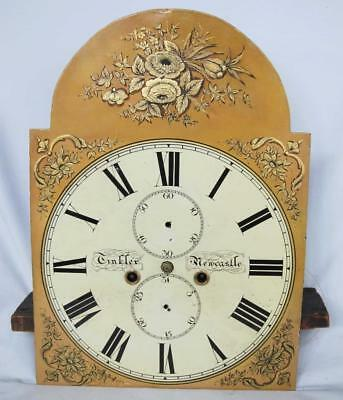 Newcastle 8 Day Longcase Grandfather Clock Works Movement 13 Inch Painted Dial