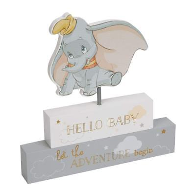 Disney Magical Beginnings Mantel Block Nursery Decoration Dumbo Hello Baby Gift