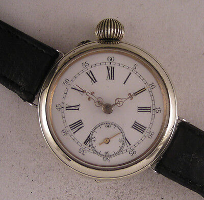 Fully Serviced 120-Years-Old GENT'S Cylindre Antique Swiss Wrist Watch Perfect