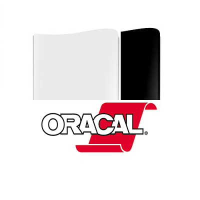 "Oracal 651 Permanent Self Adhesive Black/White Craft Vinyl 12"" & 24"" Width Rolls"
