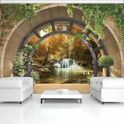 Wall Mural Photo Wallpaper Picture EASY-INSTALL Fleece Forest Waterfall Window