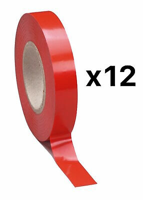 Tourna Tennis Racquet Racket Vinyl Extra Finishing Grip Tape Red Finish(12-Pack)
