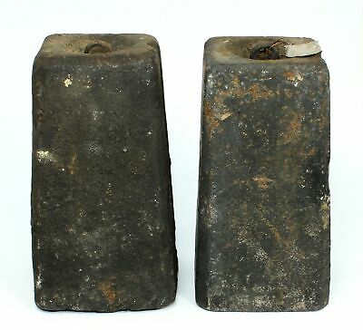 PAIR of ANTIQUE AMERICAN 8 DAY WEIGHT DRIVEN CLOCK WEIGHTS - SP454