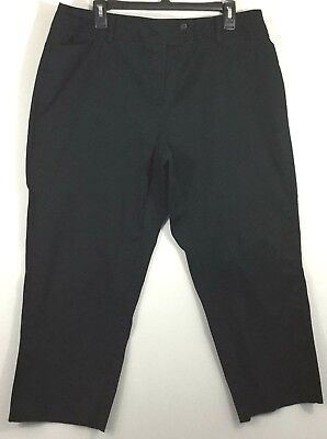 743901187f6b4 NEW NWT  39 Lane Bryant Brown Stretch Twill Capri Pants Womens Size ...