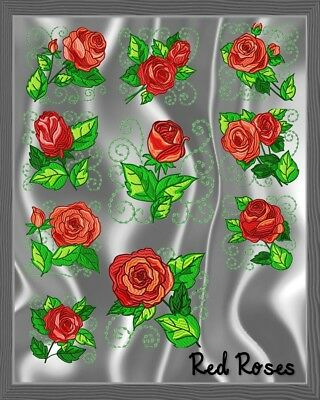 Red Roses 10 Machine Embroidery Designs Cd 3 Sizes