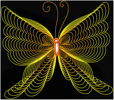Butterflies Line Work 10 Machine Embroidery Designs Cd 4 Sizes