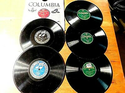 COLUMBIA 78 rpm Mixed Label Records Lot of 6 Various Artists FREE SHIPPING