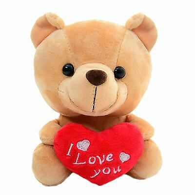 """Valentines Teddy Bear Heart I Love You Gift For Girlfriend Holiday 6"""" Brown"""