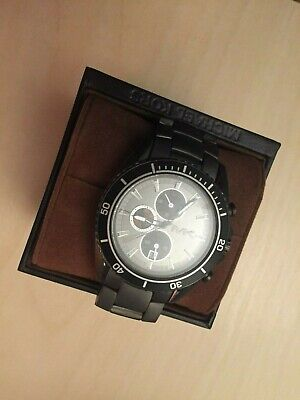 83a3574790e1f Michael Kors MK8340 Lansing Grey Dial Ion Plated Chronograph Men s Watch  137989