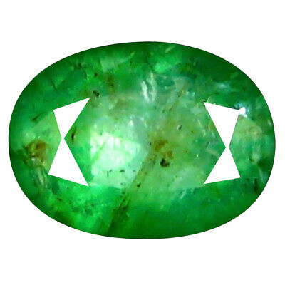 0.98 ct MIND-BOGGLING OVAL CUT (7 x 5 mm) COLOMBIAN EMERALD NATURAL GEMSTONE