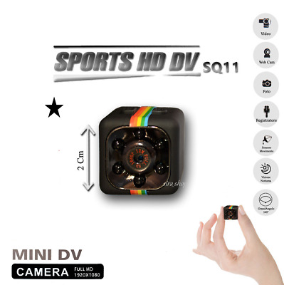 Sq11 Telecamera Sport Full Hd 1080P 2Mp Mini Dv Spy Cam Ir Spia Camera Spiare