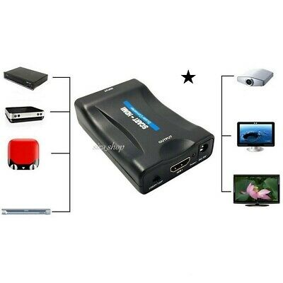 Convertitore Da Scart A Hdmi Adattatore Video Audio Stereo Tv 1080P Full Hd