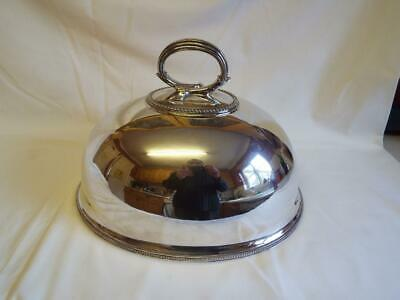 Large antique William Gibson Belfast silver plated meat dome cover.
