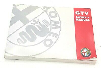 Brand New Genuine Alfa Romeo GTV Owners Manual 60490868