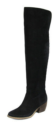 bdfd3c230f9 Lucky Brand Women s Black Khlonn Leather Over The Knee Boot Shoes Ret  239  New