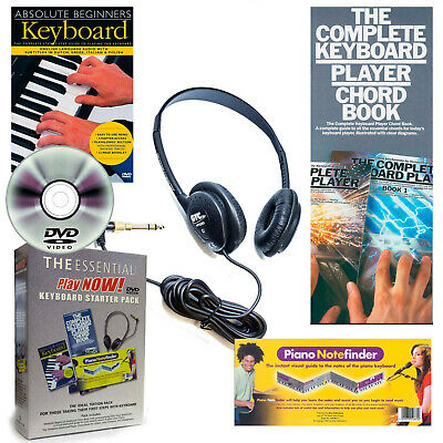 Learn To Play The Keyboard With DVD Tutor Chord Book Note Finder And Headphones