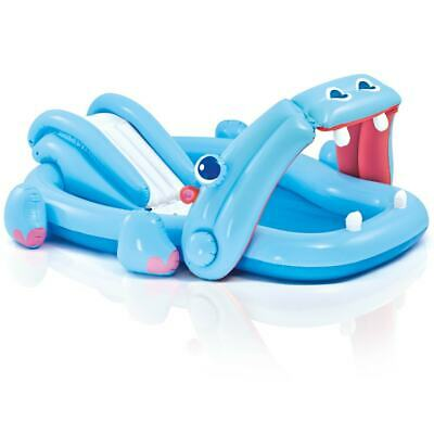 Intex Paddling Pool Playcenter Hippo with Sprayer and Slide