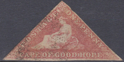 Cape of Good Hope 1850's Triangle Used 1d Brick Red SG ?