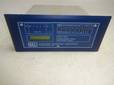 Sel 0551003X531X Overcurrent Relay Reclosing Relay Power Supply Sel-551