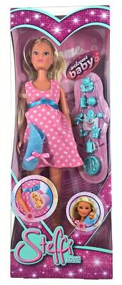 Toy for Kids Simba Steffi Love Pregnant Doll in Pink Dress with Removable Tummy
