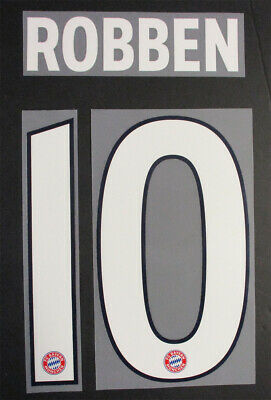 Robben 10 - 18 / 19 Bayern Munich 3Rd Name And Number Set = Player Size
