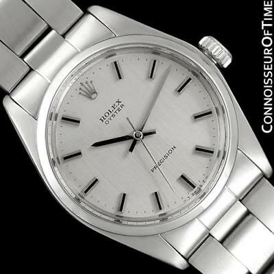 1971 ROLEX OYSTER Classic Vintage Mens SS Steel Watch - Minty with Warranty