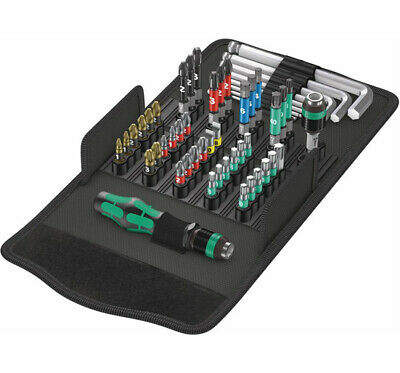 Wera 057460 Kraftform Kompakt 100 Screwdriving Service 52Pc Bit Set