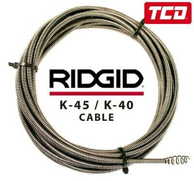 Ridgid K-45 / K-40 Drain Cleaning Cable 36033 (7.6m Bulb Auger) - 62225