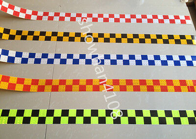 "Square Safety Reflective Self Adhesive Hazard Warning Tape Sticker 2"" Width"
