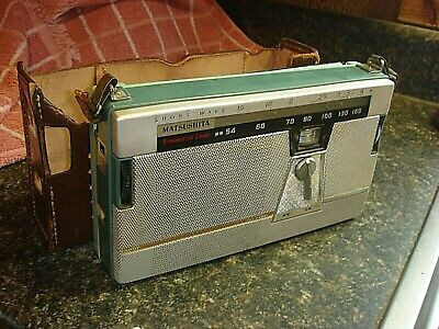 Vintage Matsushita Transistor Shortwave Radio T-22 Untested Parts/Repair Lot # 1
