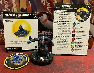 Venom 051 & Object Super Rare Marvel HeroClix: Earth X