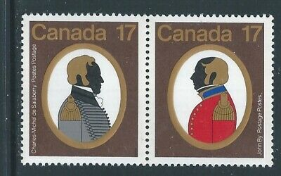 Canada #820ai Se-tenant Low Fluorescent Paper Variety MNH **Free Shipping**