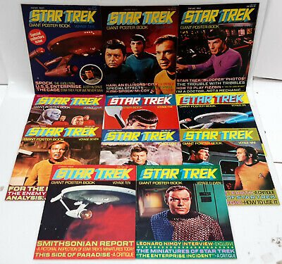 Original 1976 Star Trek Giant Fold-Out Poster Book Collection- Your Choice of 18