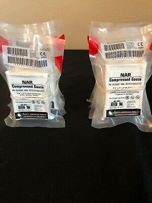 LOT OF 10 NAR North American Rescue Compressed Combat Gauze EXP 23
