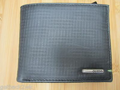 NEW  GUESS WALLET SLIM PASSCASE LEATHER CREDIT CARD ID Black 07f11e3816