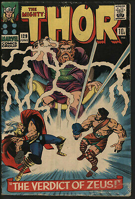 Thor #129 Jun 1966. Versus Hercules. 1St Ares. White Pages